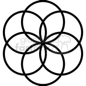 royalty  flower symbol   vector clip art