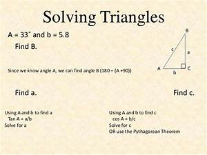 Solving Triangles Given Two Values