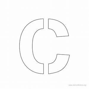 letter c stencils to print wwwpixsharkcom images With 1 5 inch letter stencils