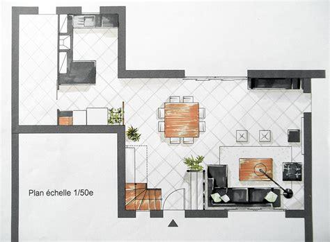 plan de cuisine ouverte sur salle à manger amenagement cuisine ouverte sur salon 10 plan salon