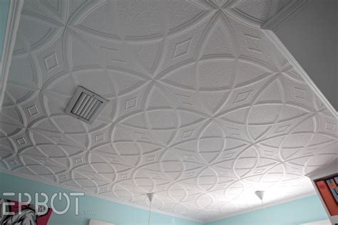 polystyrene glue up ceiling tiles epbot diy faux tin tile ceiling