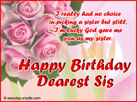 Birthday Wishes For Sister Easyday