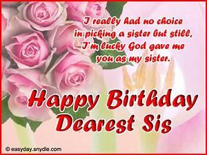 Birthday Wishes for Sister | Birthdays and Happy birthday ...