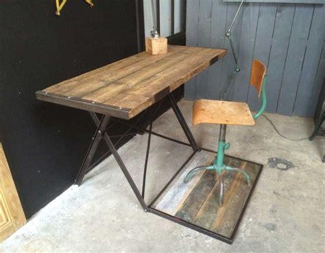 bureau brut ancien bureau bois et métal