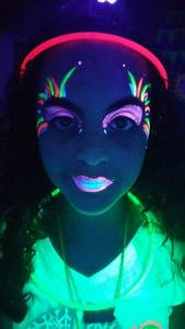 UV paint face paint. Glow in the Dark Tween Party! | PARTY ...