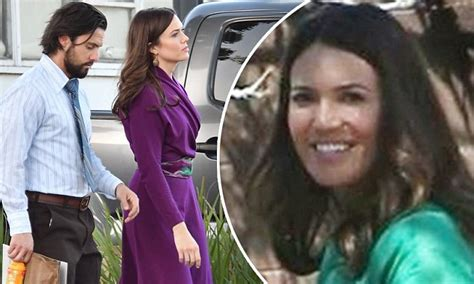Mandy Moore and Milo Ventimiglia film This Is Us | Daily ...