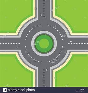 Vector: Top View Roundabout Stock Vector Art ...