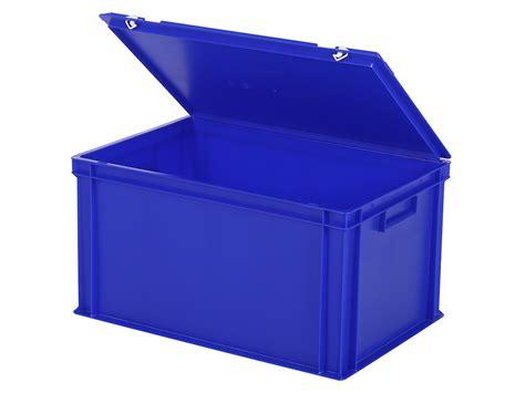 bac gerbable avec couvercle 600x400xh335mm bleu 30