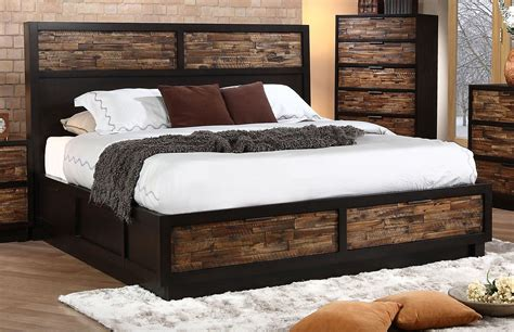 Bed Size by New Classic Makeeda California King Storage Bed In Rustic