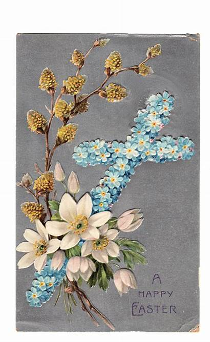 Easter Cross Clip Postcard Background Card Cards
