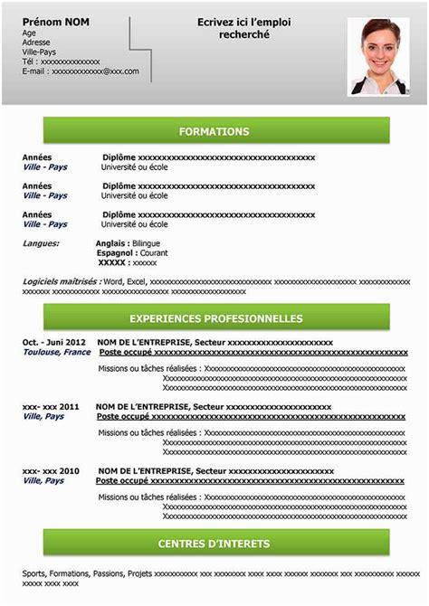 Formulaire Cv Gratuit by 30 Luxueux Mod 232 Le De Cv Gratuit 224 Remplir Ok Pubic
