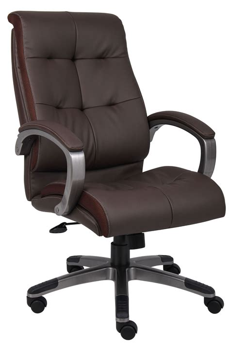 pictures of office chairs b8771p bn high back brown leatherplus executive