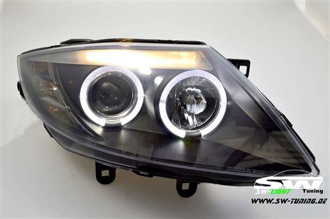 Angel Eye Headlights Bmw Z4 E85 02-08 2 Led Halo Rims