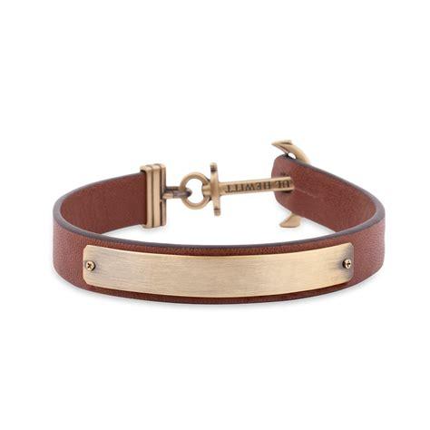 Anchor Bracelet Signum Engraving Brass Brown Paul Hewitt