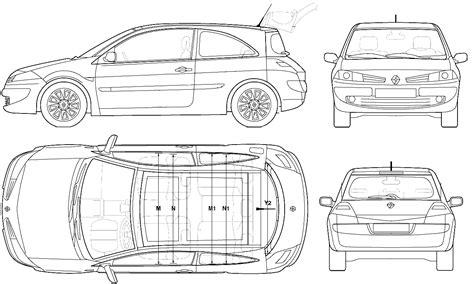 car blueprints 2006 renault megane ii hatchback blueprint
