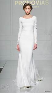pronovias 2016 wedding dresses new york bridal runway With simple long sleeve wedding dresses