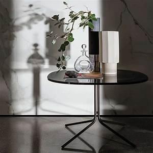 Table Basse Metal Verre : table basse design en verre et m tal genius 4 pieds tables chaises et tabourets ~ Mglfilm.com Idées de Décoration