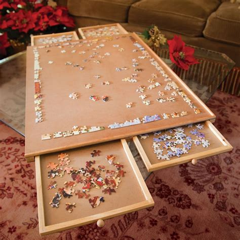 puzzle table with drawers best jigsaw puzzle table with drawers helps to stay organized