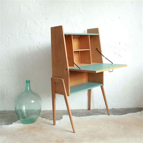 secrétaire bois vintage b204 desks mid century and