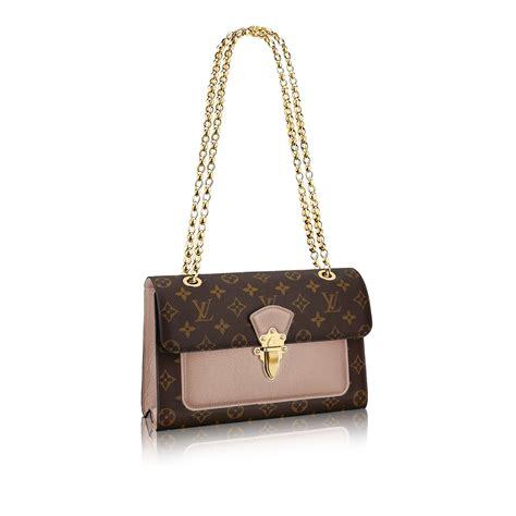 luxury monogram canvas  leather handbag victoire