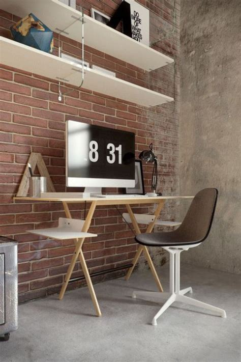 2,000+ vectors, stock photos & psd files. Chic Home Office Designs With Brick Walls | ComfyDwelling.com