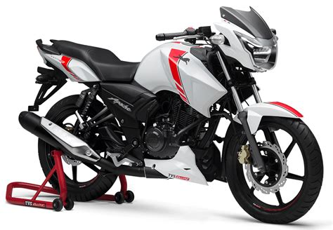 Tvs Apache Rtr 160 White Race Edition Launched
