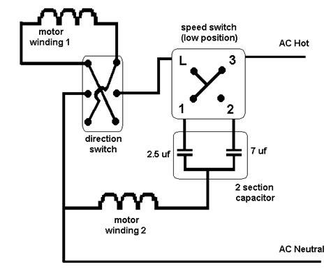 ceiling fan direction switch wiring diagram wiring diagram for 3 speed ceiling fan