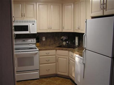 small kitchen with corner sink almond kitchen cabinets 8103