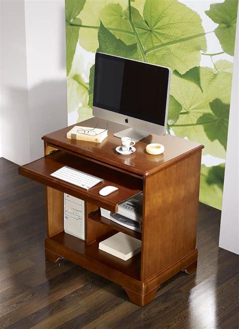 petit ordinateur de bureau petit bureau informatique en merisier de style louis