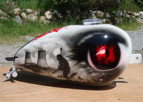 England Made Wassell Bobber Gas Tank Free Hand Airbrush