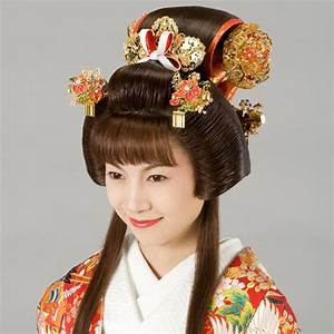 Japan, Edo Era, Fukiwa Hairstyle | Traditional Asian ...