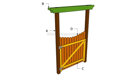 how to build a garden gate howtospecialist how to