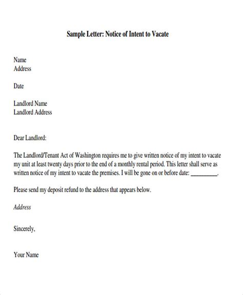 landlord letter to tenant tenant letter templates 9 free sle exle format