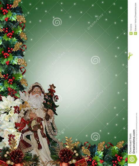 christmas border victorian santa stock illustration