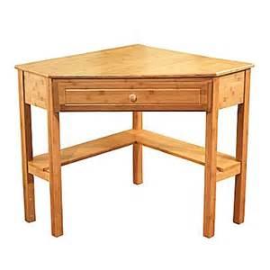 tms bamboo corner writing desk oak 23610nat staples 174