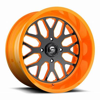 Utv Wheels Fuel Ff19 Orange Lug Rims