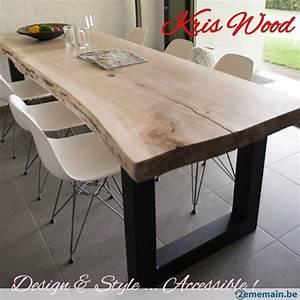 plateau chene blanc sec 300cm tres massif pour table 67mm With table salle a manger chene massif pour deco cuisine