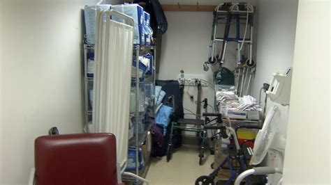 chronic patients interviewed in hospital closet ctv
