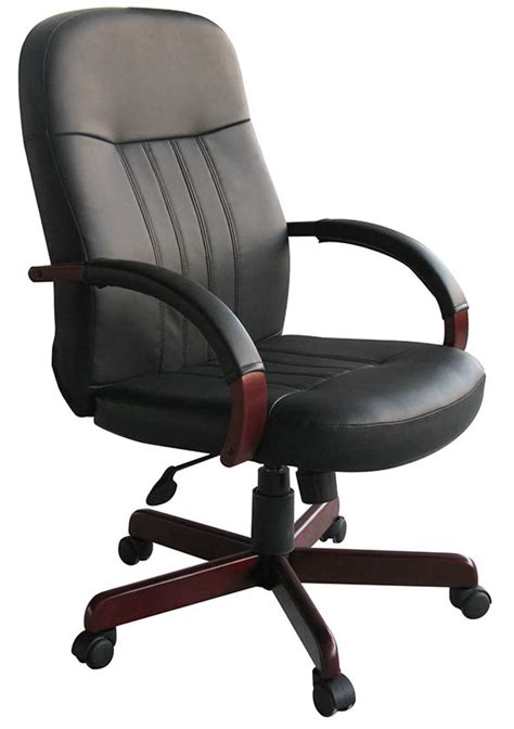 wood frame leather chair