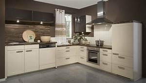 interior exterior plan glossy cream and brown kitchen With cream and brown kitchen designs