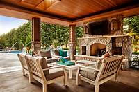 great wood patio design ideas Backyard Landscaping Design Ideas- Swimming Pool Fireplaces