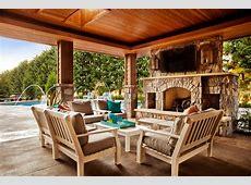 Backyard Landscaping Design Ideas Swimming Pool Fireplaces