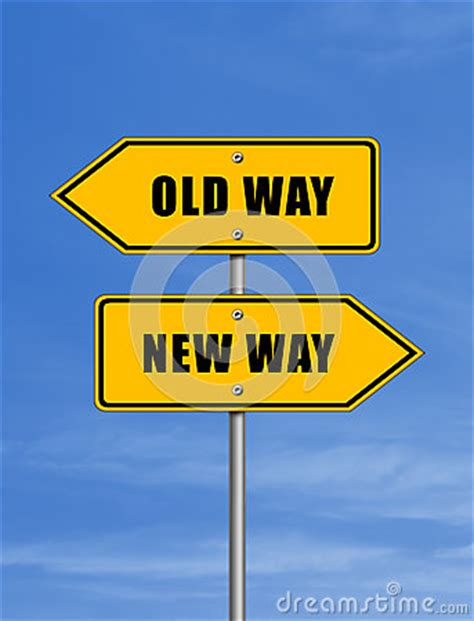 Old Way  New Way Stock Illustration  Image 40511109