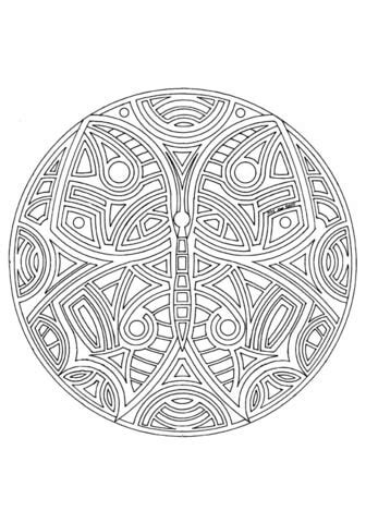 butterfly mandala coloring page  printable coloring
