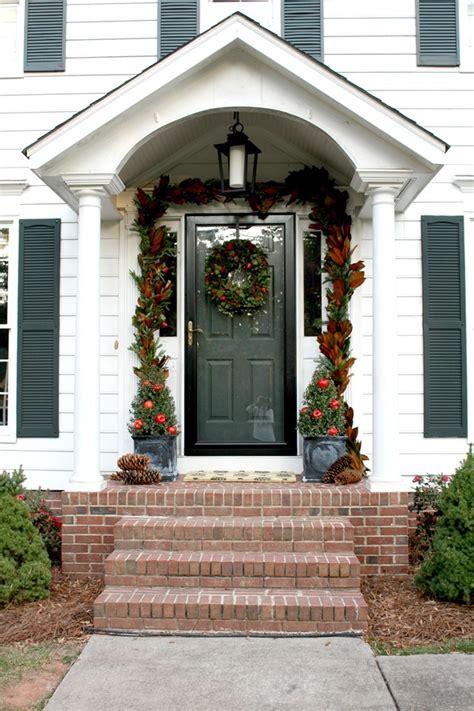 colonial christmas front door emily  clark