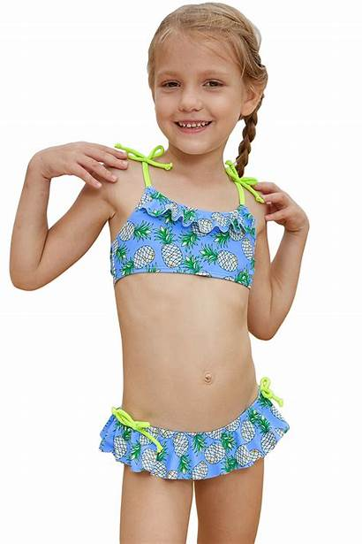 Bikini Child Swimsuits Pineapple Models Straps Shoulder