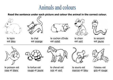 animals colours worksheet by rosaespanola teaching