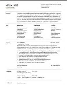 resume sles for managers resume sles for sales manager sle resumes