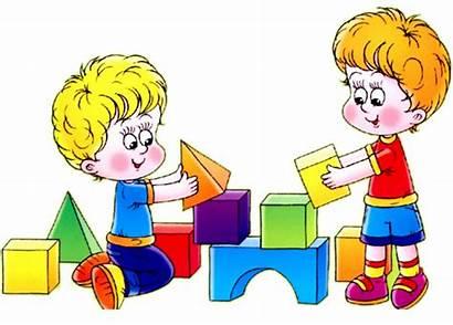 Blocks Clipart Playing Clip Children Child Pre