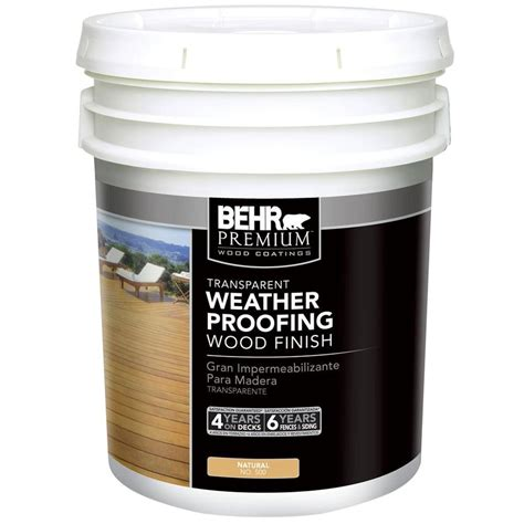 Behr Premium Deck Stain Home Depot by Behr Premium 1 Gal 502 Redwood Transparent